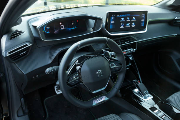 Intérieur de la nouvelle Peugeot 208
